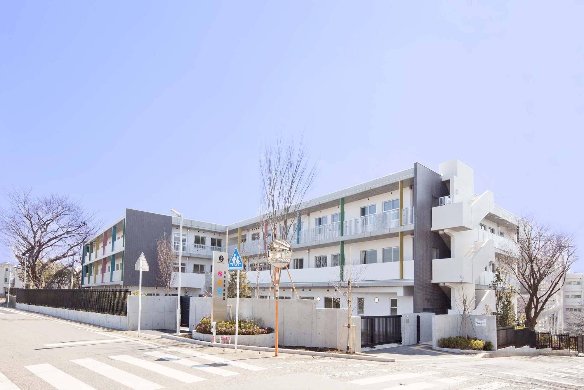 川崎市重度障害者等生活施設(桜の風・もみの木)